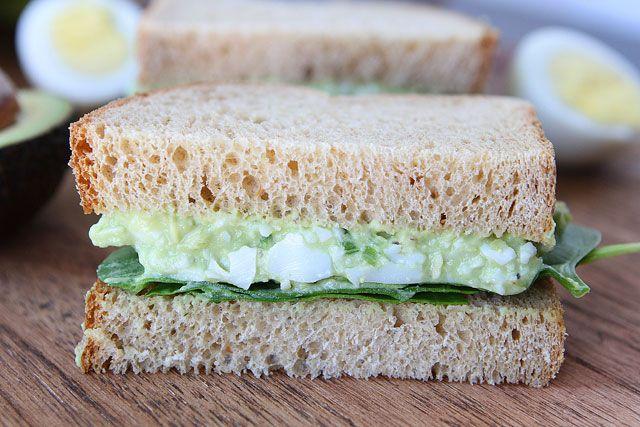 Avocado Egg Salad Sandwich {healthy lunch} // MADE: addicted, avocado ...