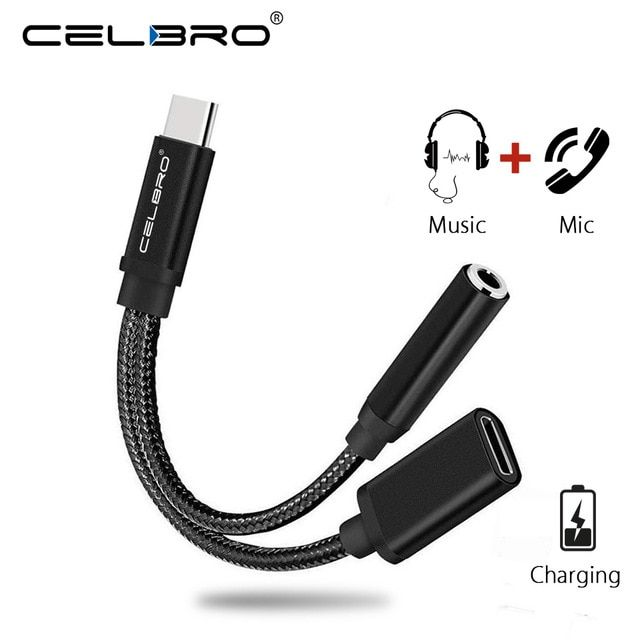 Usb Type C To 3 5mm Headphone Jack Adapter Converter 2 In 1 Aux Audio Cable Kabel For Xiaomi Redmi Note 7 Pro Nokia 8 1 Oneplus Revie Audio Cable Headphone Usb