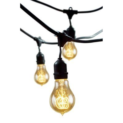 Bulbrite STRING15/E26-A19KT Decorative String Light Kit with Nostalgic Victorian Bulbs This Bulbrite decorative string light kit with Victorian bulbs works
