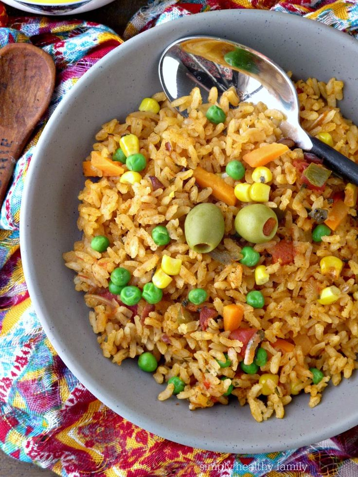 Authentic Spanish Rice Recipe from Simply Healthy Family