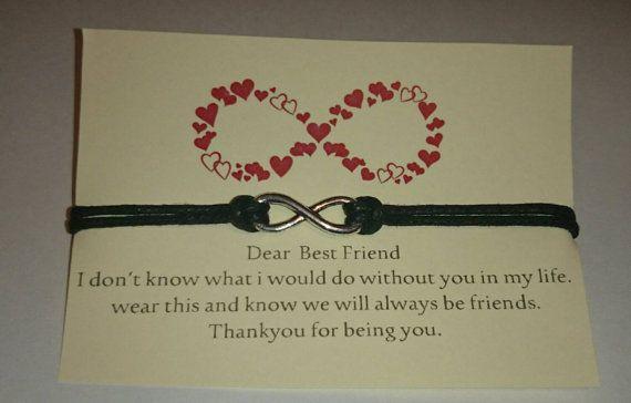 Best friends bracelet  infinity  bestie gift by HelenMinimahoo