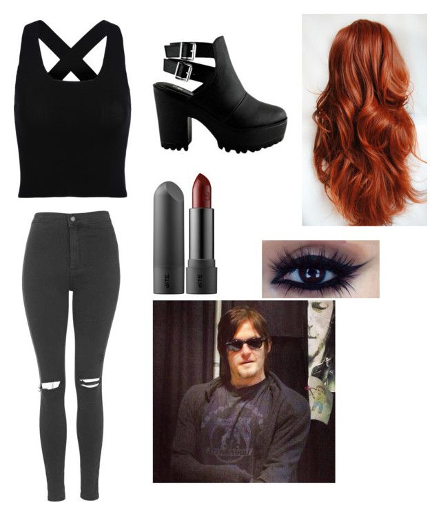 date with Daryl Dixon by daniellabramhall on Polyvore featuring Topshop and INDIE HAIR