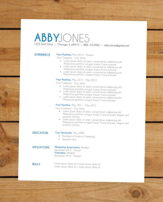 15 best Résumé templates images on Pinterest Resume, Resume tips - child care resume