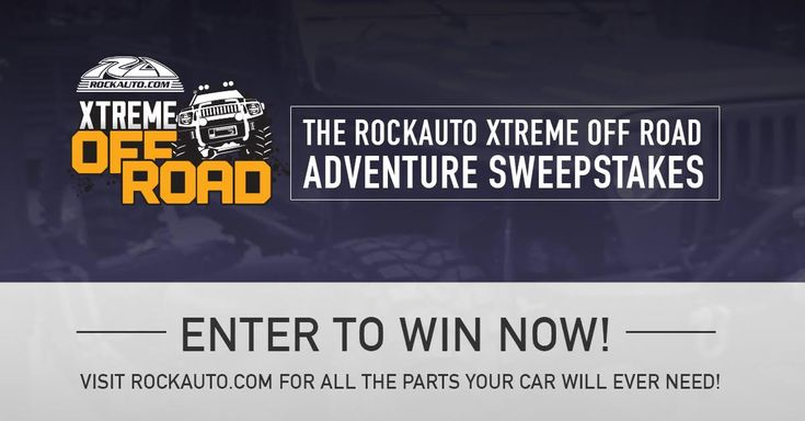 "ENTER TO WIN The RockAuto Xtreme Off Road Adventure Sweepstakes  Enter for a chance to win a fully decked out Jeep LJ built by Ian, straight from the Xtreme Off Road shop! It's easy to enter! Click the ""Enter Now"" tab for a chance to win!  #RockAuto #PowerNation #Sweeps"