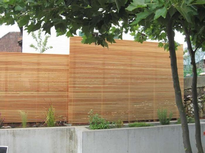 Peter Studer Holzbau AG – Sichtschutzwand von Arx, Wangen – Gartenideen