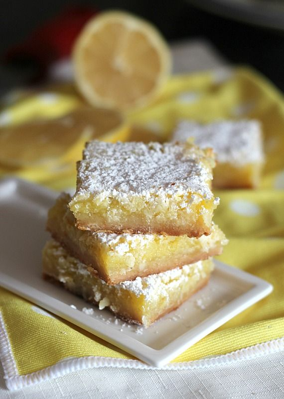 Coconut Lemon Squares | Cookies and Cups