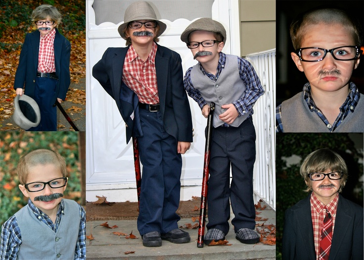 My Little Old Men. Halloween costume ideas.