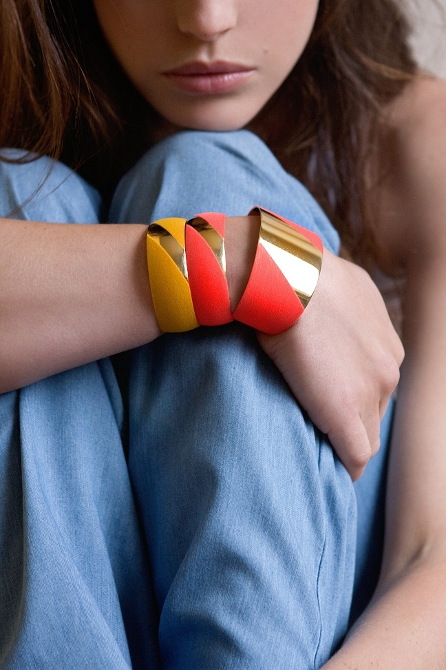 bracelets Mademoiselle  manchette / cuff Madame  collection anne thomas