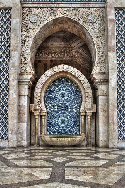 via thegiftsoflife    Hassan II Mosque. Casablanca, Morocco.