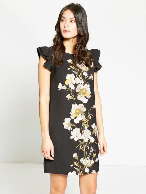 Vestito con stampa floreale e maniche ad aletta  #MotiviFashion su http://www.motivi.com/it/shop-online/abbigliamento/abiti/abito-con-stampa-floreale-e-maniche-ad-aletta.html
