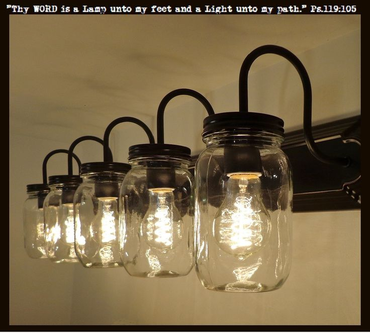 Vanity Lights Mason Jars : 17 Best ideas about Rustic Bathroom Vanities on Pinterest Small country bathrooms, Small ...