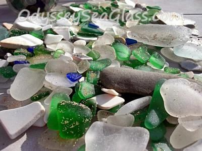 Sea Glass from Nova Scotia: Town of Inverness West shore Cape Breton Island Walkers Beach at Inverness