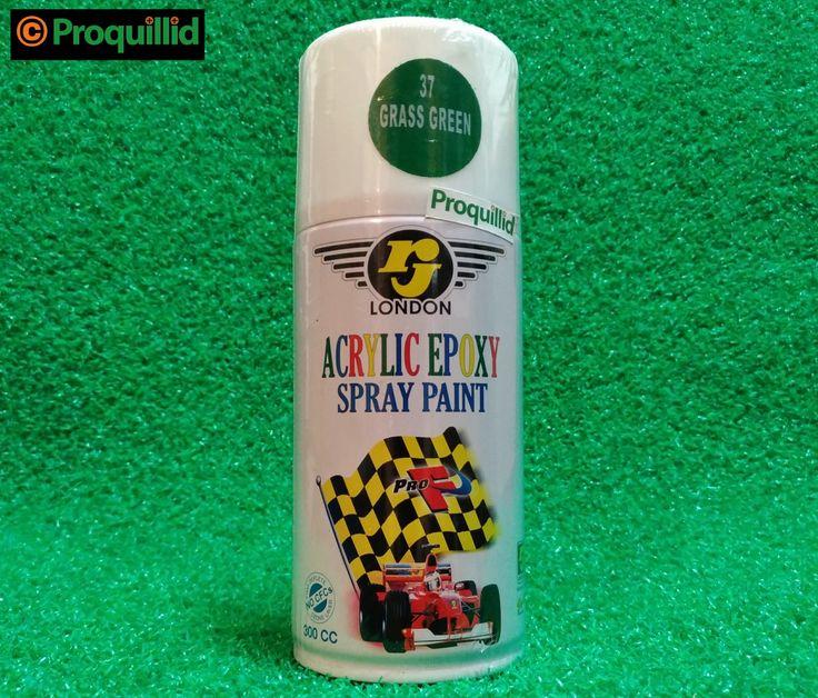 rj LONDON Acrylic Epoxy Spray Paint 37 Grass Green - Proquillid