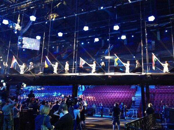 uk eurovision flag video