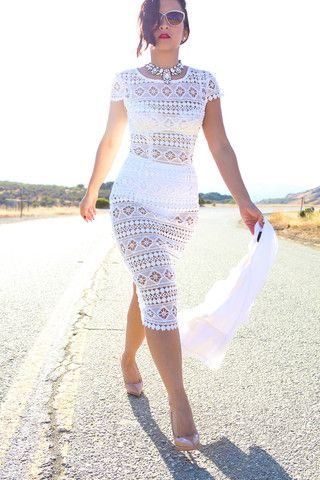 The White Lace Bodycon Dress