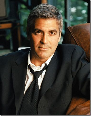 George Clooney... Love a man that doesn't care about his gray hair! So Sexy!!