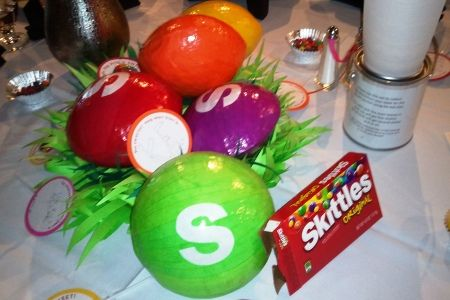 Giant Skittles Centerpiece