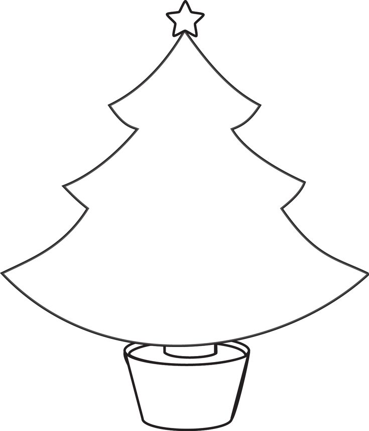 Christmas tree template for felt decorations flamingo for Felt coloring pages