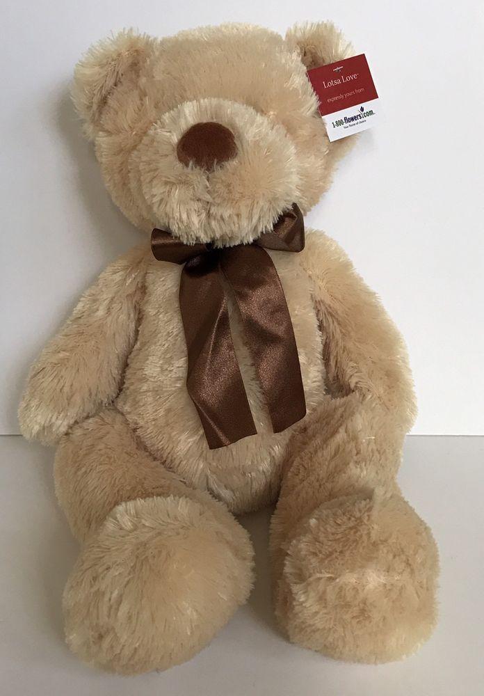 Anico Plush Teddy Bear Plush Stuffed Animal Play Toy Gift  Bow New 20 inches #Anico