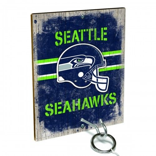 Team Toss for Seattle Seahawks fans from Team ProMark is a fun and addictive game that's easy to learn but difficult to master. Toss the ring on the eye hook and score a point. The vintage team board designs make a great addition to any fan cave or game room wall. Play individually or pair up for teams while the gang is over watching the game.