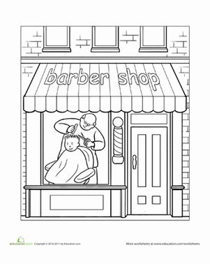 paint the town barber shop - Coloring Pages For Paint Program