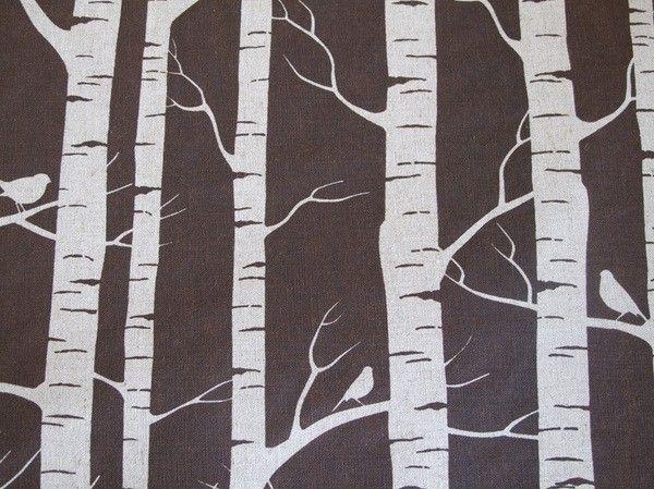 Birch Bark Printed Quilt Fabric Birch Fabric Birch