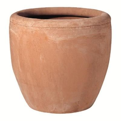 """20 1/2"""" X 17 1/2 Norcal Egg shaped clay pot. $29.88. Good for deep reaching roots. Hibiscus, Roses..."""