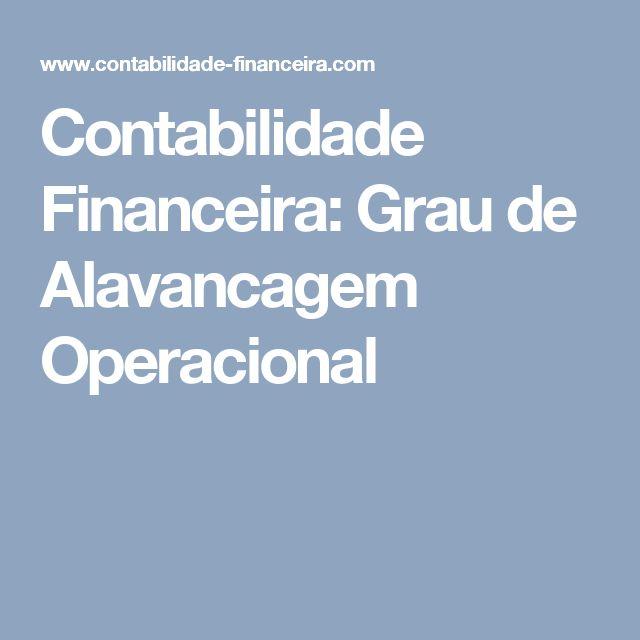 Contabilidade Financeira: Grau de Alavancagem Operacional