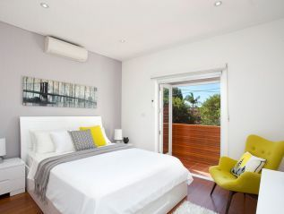 styled, air con, sitting chair, balcony