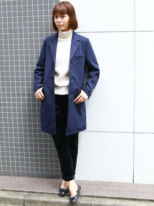 ビックワッフルサドルショルダータートルネックニット[Lady's]【MADE IN JAPAN】『日本製』 / Upscape Audience - 【 Audience 】