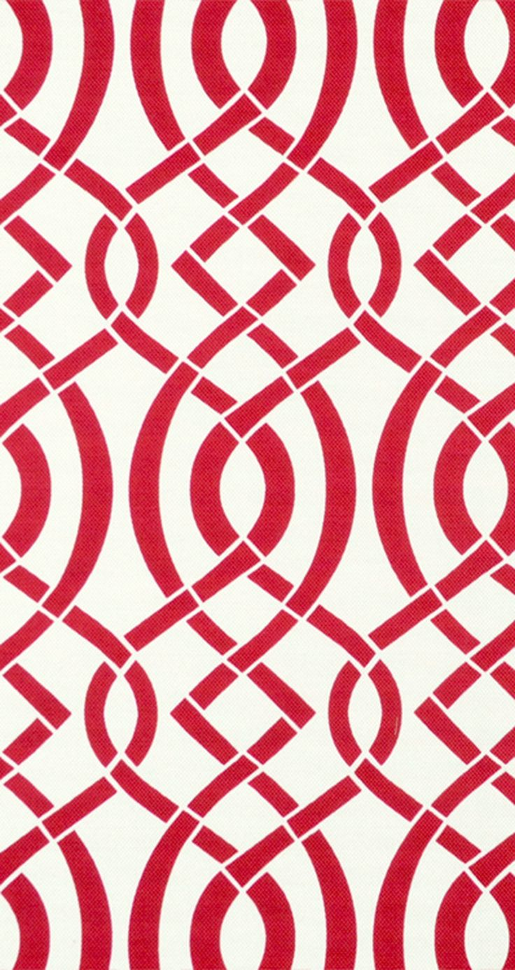 Discount outdoor fabric by the yard - Richloom Outdoor Empire Cherry Fabric Red Decor Geometric