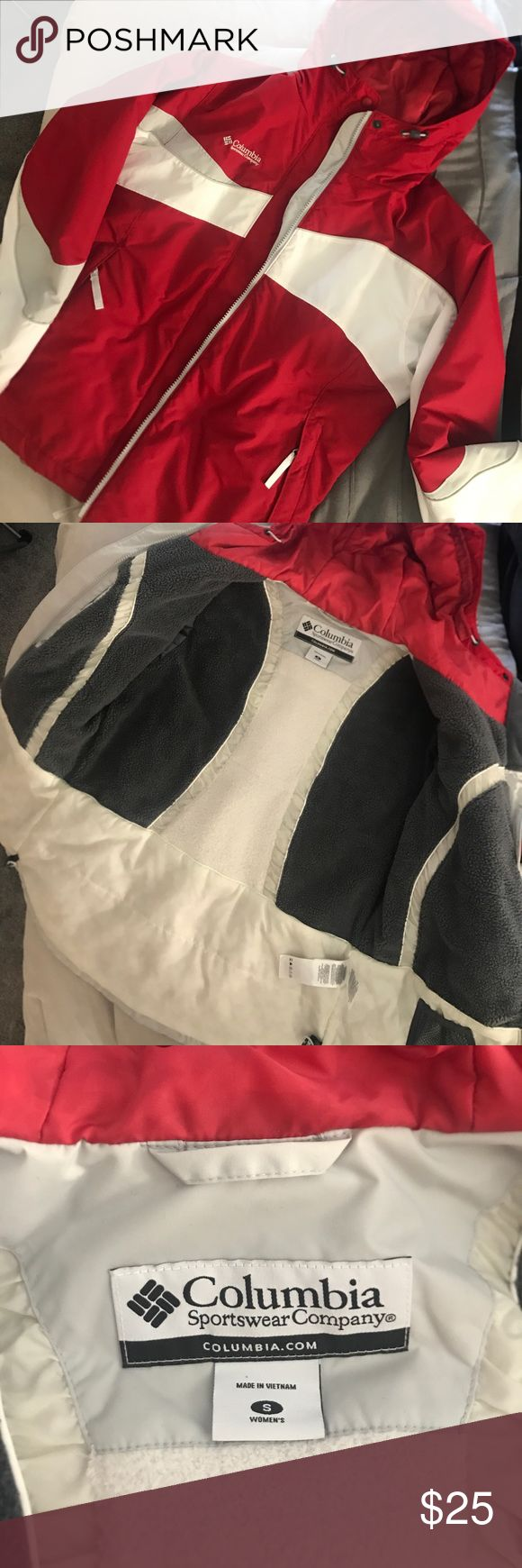 COLUMBIA Snow Jacket Like new, Columbia blazing star interchange snow jacket with hood. Fleece lining. Features concealed pockets and adjustable cuffs. Columbia Jackets & Coats