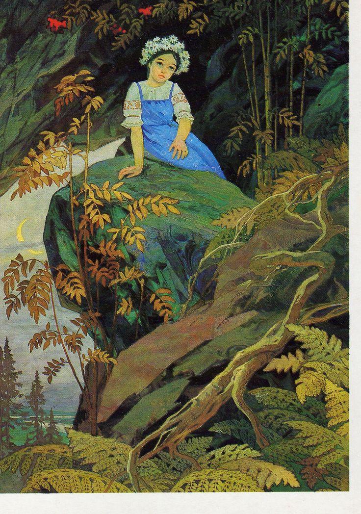 """""""Malachite casket""""  Tales of Pavel Bazhov illustrated by Vyacheslav Nazaruk"""