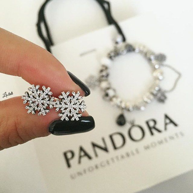pandora snowflake earrings pandora snowflake earrings 7209