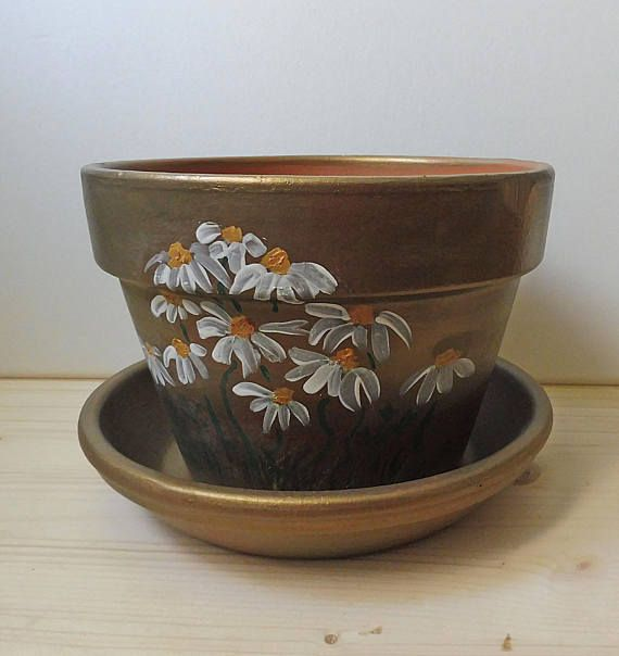 Hand Painted Pot Hand Painted Clay Pot Painted Pottery