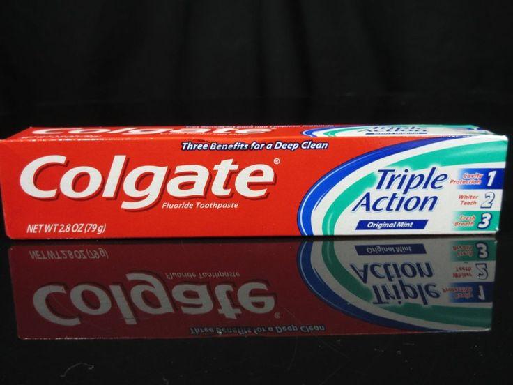 Pack of 7 Colgate Triple Action Original Mint Toothpaste 2.8 oz ea EXPIRES SOON! #Colgate