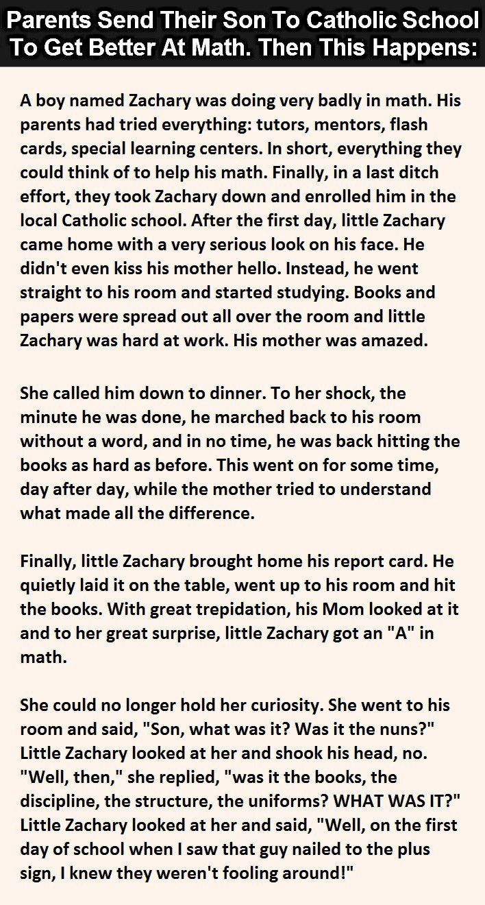 Parents Send Son To Catholic School To Get Better At Math. Then This Happens.
