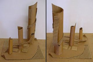 Corrugated Cardboard Sculpture Lesson | Art Lesson Plans