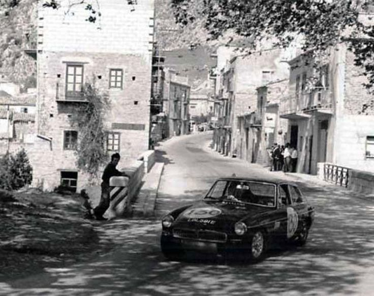 1968 TARGA FLORIO - MGB GT RegNo: LBL 591 E. Crewed by Paddy Hopkirk and Andrew Hedges. Finished 12th OA.