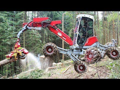 Amazing Modern Mega Machines Unusual Woodwork Sawmill Wood Timber Tractor Cleaver Saw Timberjack - YouTube