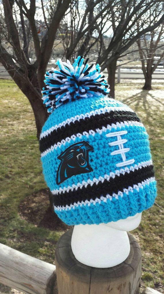 Carolina Panthers Inspired Hat Carolina Panthers by AtTheLilyPond