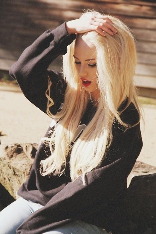 Bleach Blonde Tumblr Beauty Fashion Pinterest