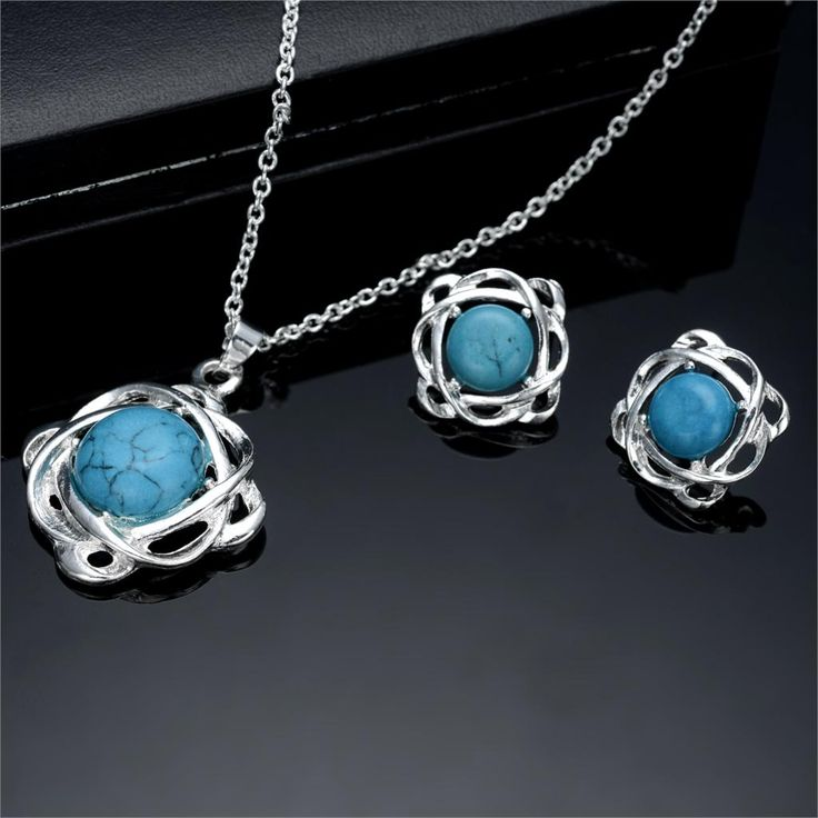 Princess Wedding Engagement Jewelry Genuine Cubic Pendant Necklace Earrings Woman Fine Jewelry Sets