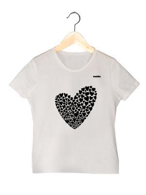 Camiseta en algodón orgánico para chica Valentina   www.strambotica.es