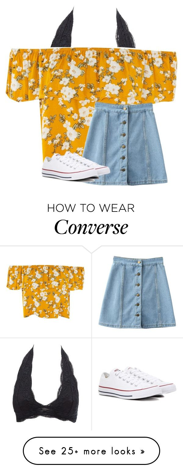 """Untitled #3564"" by laurenatria11 on Polyvore featuring Charlotte Russe, WithChic and Converse"