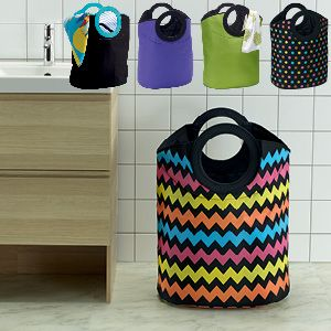 A fabulous laundry bag that is available in vibrant decorator colours, this large and roomy bag will hold a stack of dirty washing while looking great. These great household items are perfect for the laundry, kids' bedrooms or even for the beach. Tough and versatile, they are suitable for clothes, storing toys, games and books, general household items or everything you need at the beach.