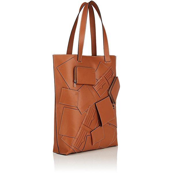 LOEWE Appliquéd Tote Bag | Barneys New York ($3,750) ❤ liked on Polyvore featuring bags, handbags, tote bags, brown purse, handbags totes, brown tote purse, brown tote handbags and tote handbags