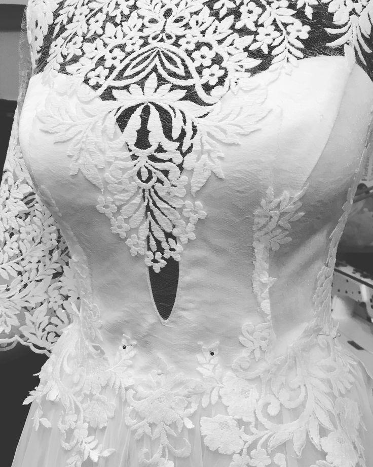 In LOVE with our work! ❤️ #bride #bridetobe #workinprogress #bridetobe2017 #2017bride #womaninlove #lace #embroidery #embroiderydress #cottonembroidery #precious #luxury #luxurious #luxurydress #weddingdress #mireasa #rochiedemireasa #2017 #margo #margoconcept #brașov #hautecouture #bespokedress #bespoke #custommadedress #custombridedress