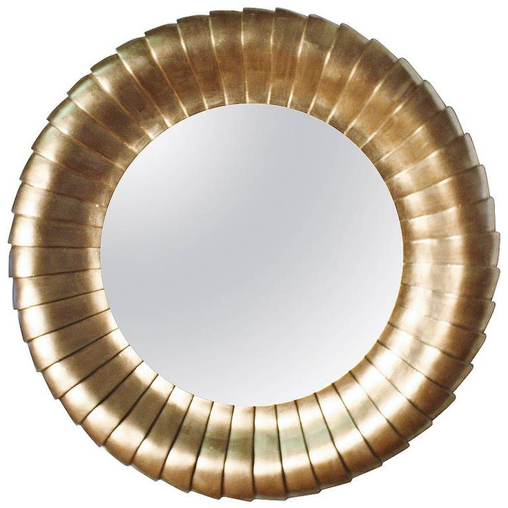 Large Round Gold Gilt Mantel Mirror | From a unique collection of antique and modern mantel mirrors and fireplace mirrors at https://www.1stdibs.com/furniture/mirrors/mantel-mirrors-fireplace-mirrors/