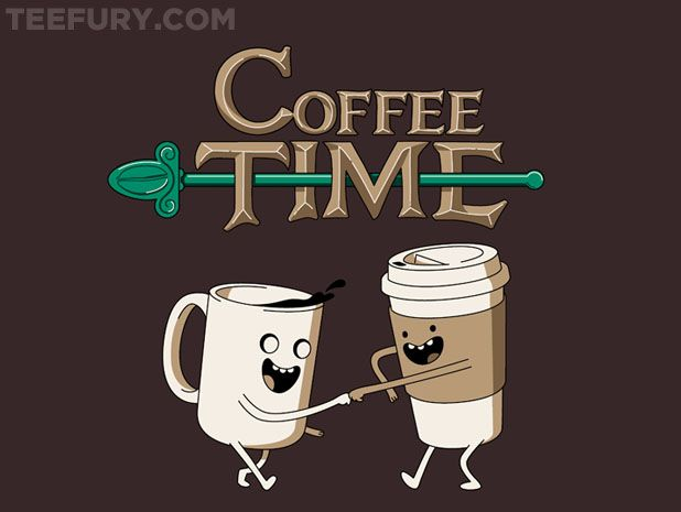 Coffee Time! by powerpig - Shirt sold on July 29th at http://teefury.com - More by the artist at http://www.chrismcveigh.com